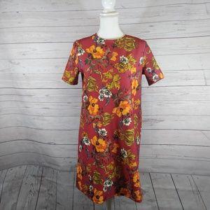 Zara Trafaluc red floral dress
